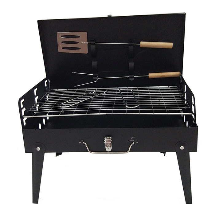 Hewolf 44 x 22cm Stainless Steel Folding Camping Grill
