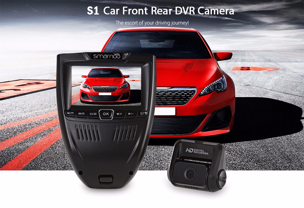 Smarnoo S1 3 inch LCD Front Rear Car Digital Video Recorder