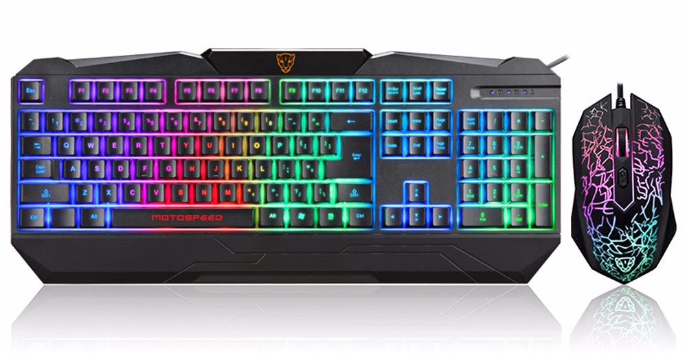 Motospeed S69 Gaming Keyboard and Mouse Set with Rainbow Backlight