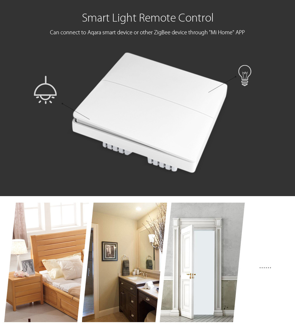 Xiaomi Aqara Wall Switch Smart Light Control ZigBee Version
