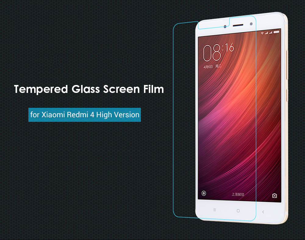 Luanke Tempered Glass Screen Film for Xiaomi Redmi 4 High Version Ultra-thin 0.3mm 2.5D 9H Explosion-proof Protector