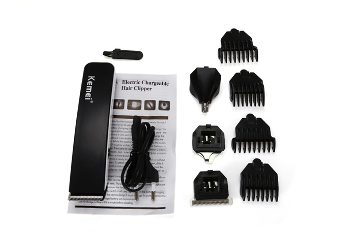 Kemei KM - 3580 4 in 1 Electric Rechargeable Hair Clipper Grooming Kit