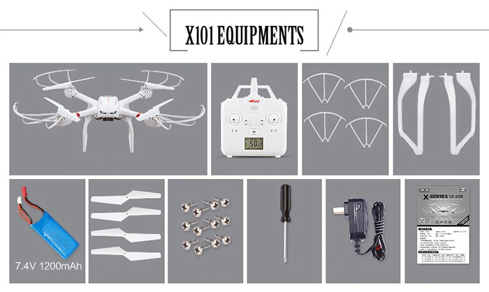 MJX X101 2.4GHz 6 Axis Gyro RC Quadcopter with 3D Roll Stumbling Function