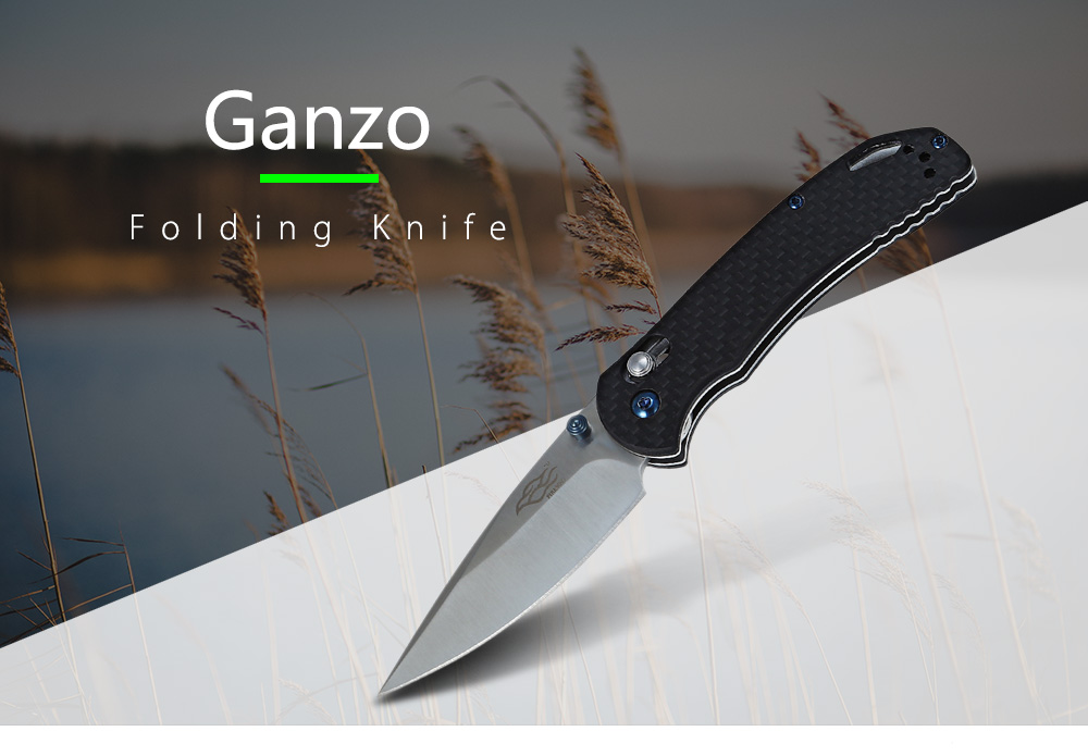 ganzo firebird f753m1 cf axis lock pocket folding knife black ebay