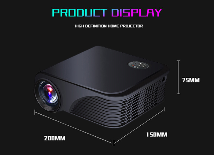 S320 LCD Projector 1800 Lumens 800 x 600 Pixels 1080P Media Player
