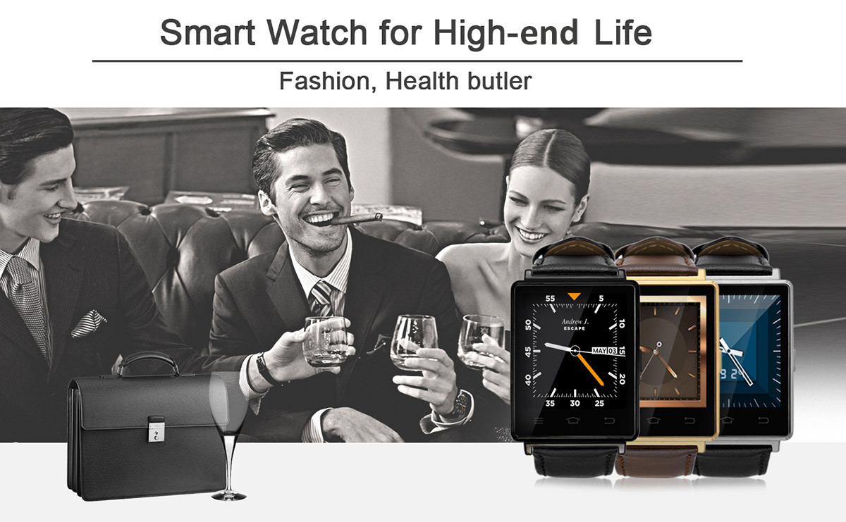 NO.1 D6 1.63 inch 3G Smartwatch Phone Android 5.1 MTK6580 Quad Core 1.3GHz 1GB RAM 8GB ROM GPS WiFi Bluetooth 4.0 Heart Rate Monitoring