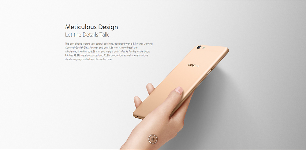 OPPO R9S 5.5 inch 4G Phablet Android 6.0 MSM8953 Octa Core 2.0GHz 4GB RAM 64GB ROM VOOC Flash Charge Dual 16MP Cameras WIFI Display
