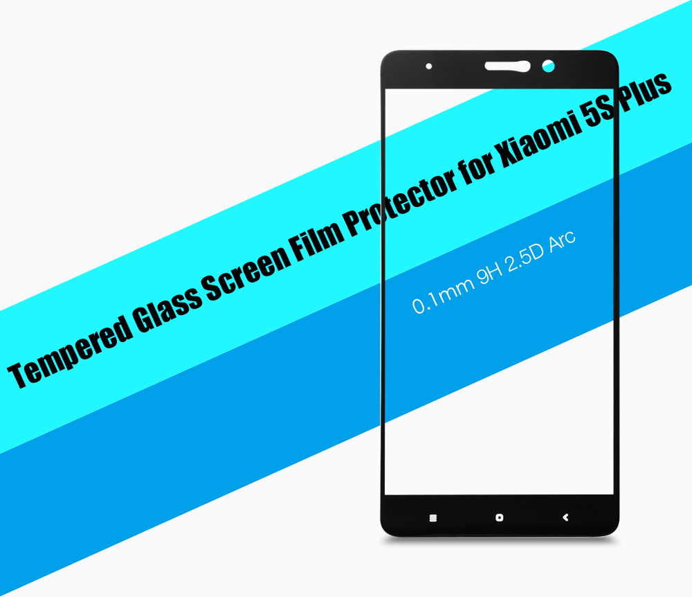 Hat Prince Tempered Glass Screen Protector for Xiaomi 5S Plus 0.1mm 9H 2.5D Full Cover Explosion-proof Ultrathin Protective Film