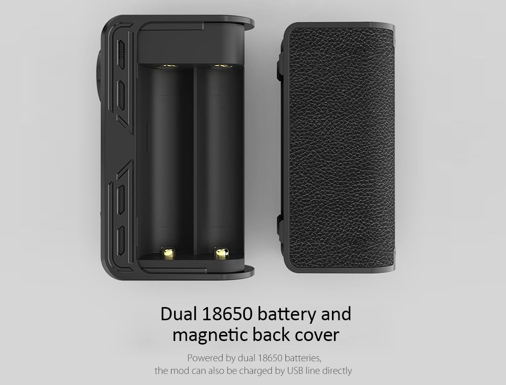 Original Smoant Charon 218W TC Bod Mod with 200 - 600F / 100 - 300C / Supporting 2pcs 18650 Batteries for E Cigarette