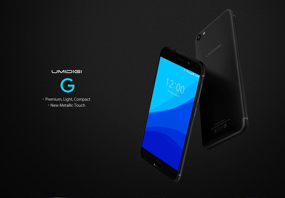 UMIDIGI G 4G Smartphone 5.0 inch Android 7.0 MTK6737 Quad Core 1.3GHz 2GB RAM 16GB ROM E-compass Fingerprint Scanner