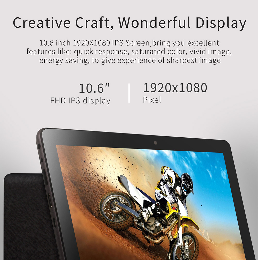 Jumper EZpad 4S Pro Tablet PC 10.6 inch Windows 10 English Version Intel Cherry Trail X5-Z8350 Quad Core 1.44GHz 4GB RAM 64GB ROM HDMI Bluetooth 4.0
