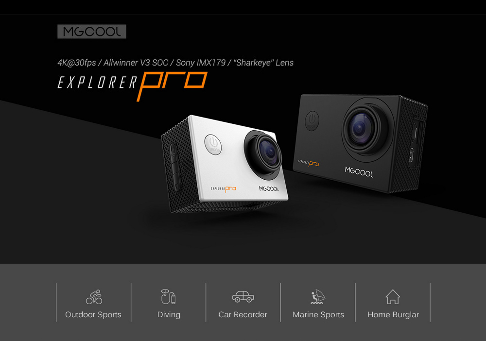 MGCOOL Explorer Pro 4K 30fps WiFi Action Sports Camera with Allwinner V3 Chipset