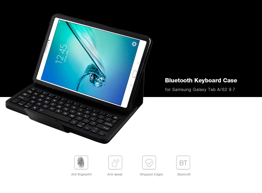 PU Leather Bluetooth Keyboard Case for Samsung Galaxy Tab A / Galaxy Tab S2 9.7 ( T810 / T815 / T550 )