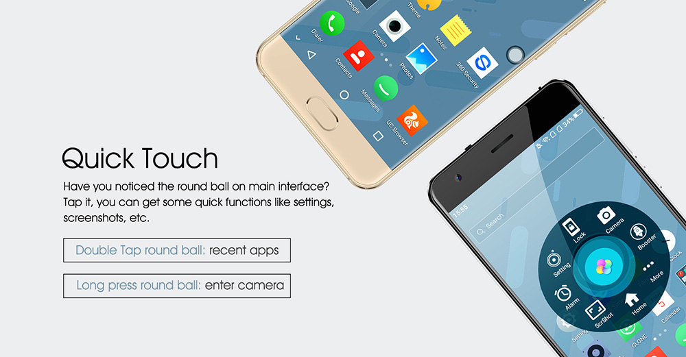OUKITEL K4000 Plus 4G Smartphone 5.0 inch Android 6.0 MTK6737 Quad Core 1.3GHz 2GB RAM 16GB ROM Front Touch Sensor 4100mAh Battery