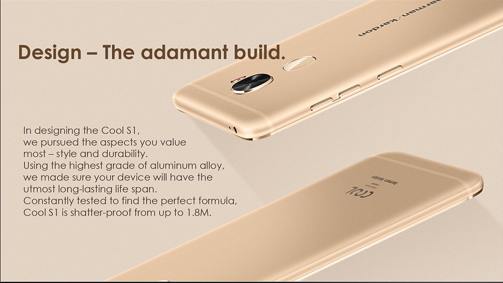 Coolpad Cool S1 4G Phablet 5.5 inch Android 6.0 Snapdragon 821 Quad Core 1.9GHz 6GB RAM 64GB ROM 8.0MP + 16.0MP Cameras Touch Sensor Type-C