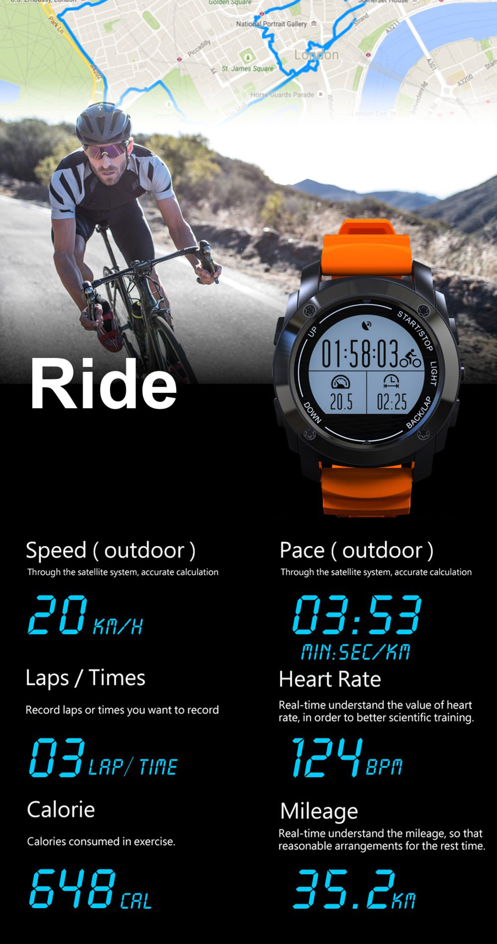 S928 Real-time Heart Rate Track Smart Wristband Air Pressure Environment Temperature Height Watch