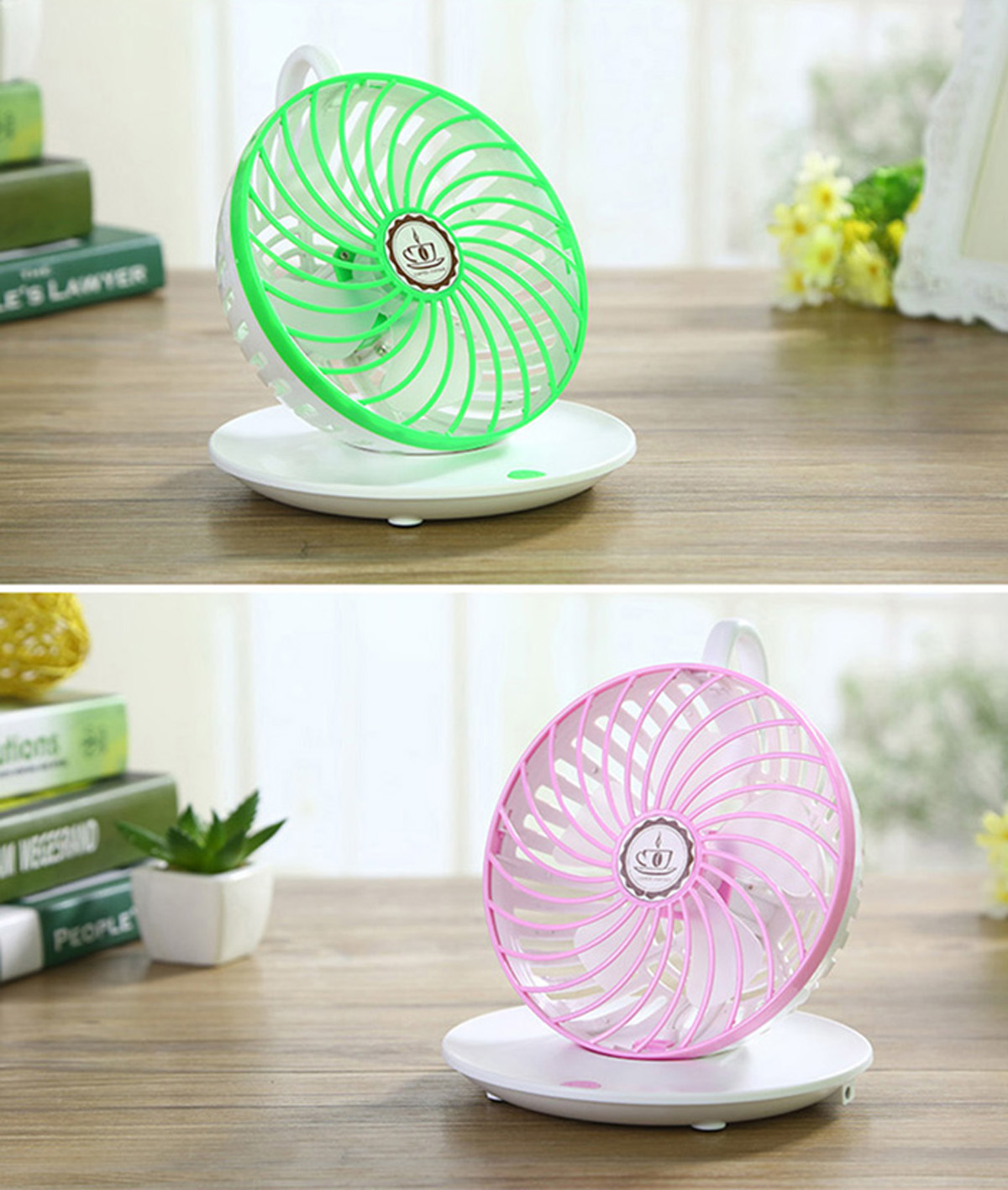 Coffee Cup Type Super Mute PC USB Cooler Fan for Notebook Laptop Computer with Key Switch