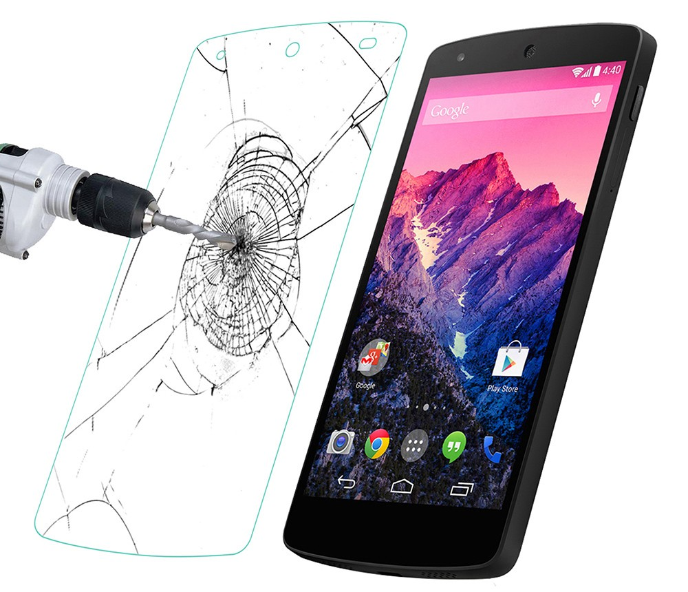 Ultra Slim Link Dream 9H 0.33mm Tempered Glass Guard Screen Protector for LG Nexus 5