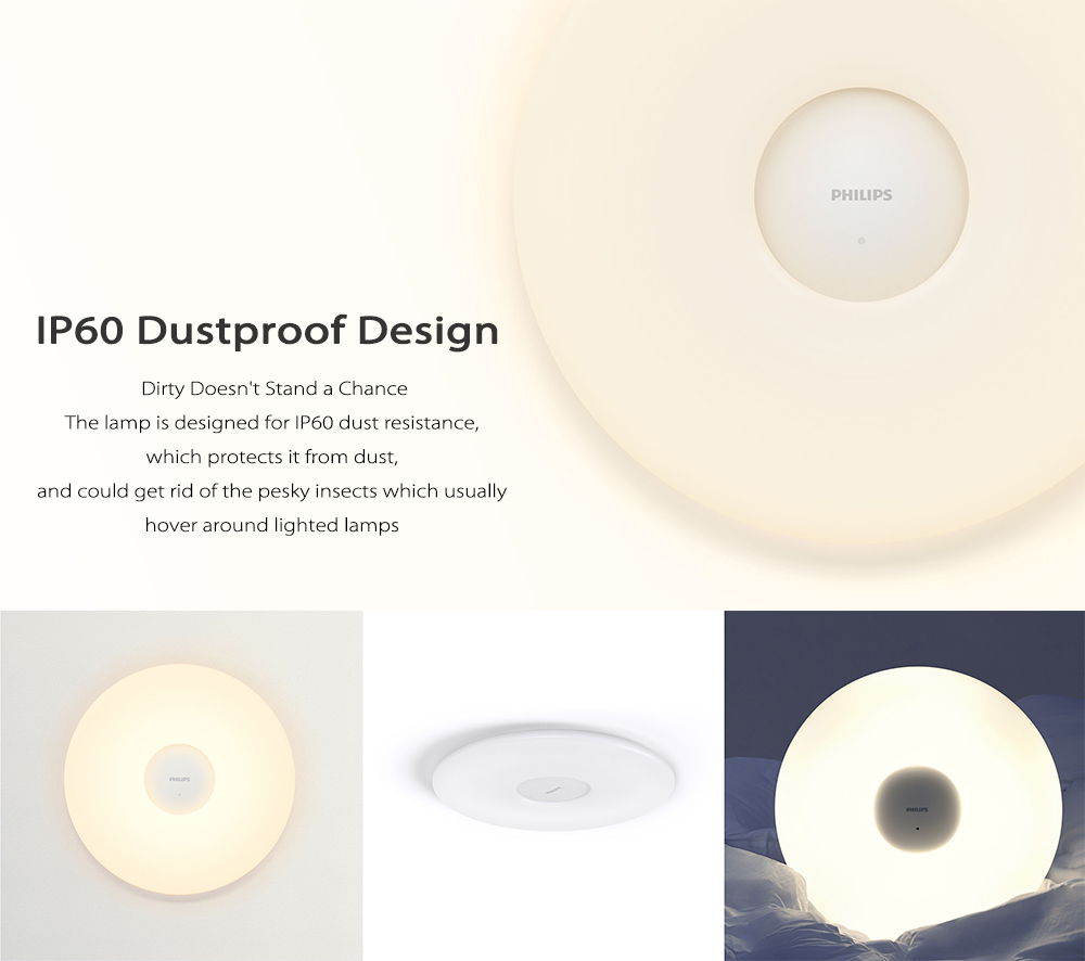 Original Xiaomi Philips LED Ceiling Lamp Dust Resistance App Wireless Dimming AC 100 - 240V