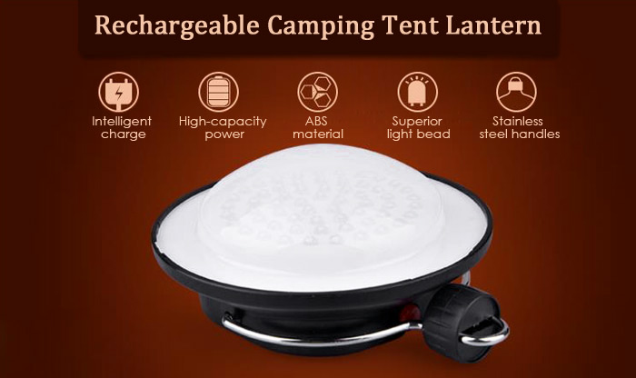 SUBOOS ZT - 8503 Rechargeable 60 LED Camping Tent Lantern Outdoor Practical Waterproof Emergency Light