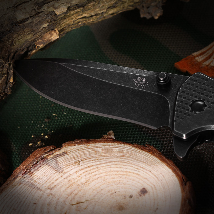 Sanrenmu 7089 LUY - SDW2 Folding Knife with Liner Locking for Outdoor Adventure and Climbing