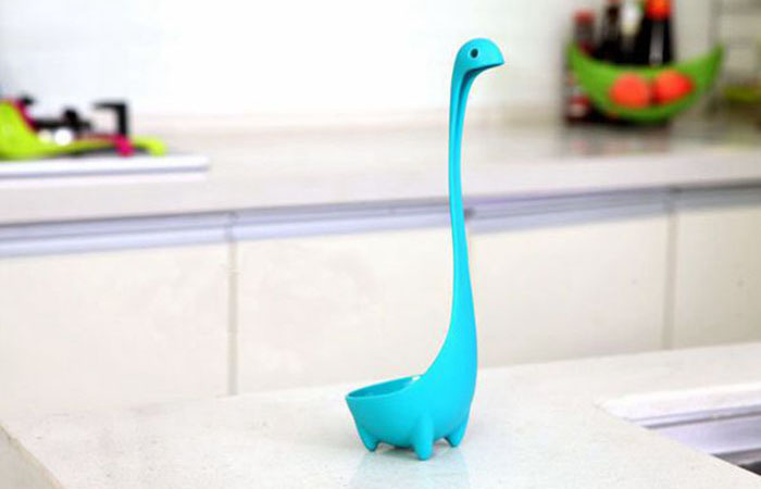 Lovely PP Material Loch Ness Monster Style Ladle Soup Spoon Easy Kitchen Tool