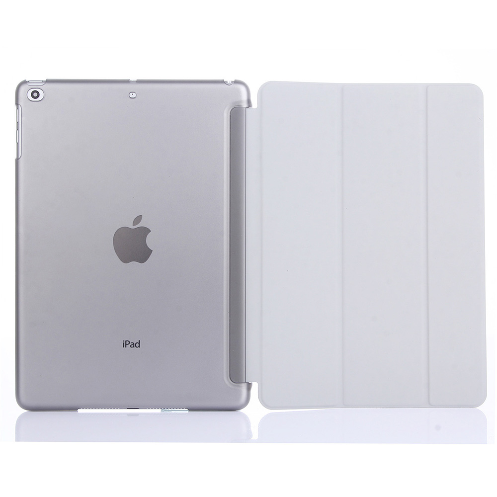 ASLING Protective PC Back Case Fold PU Leather Cover Auto Sleep with Stand for iPad Air