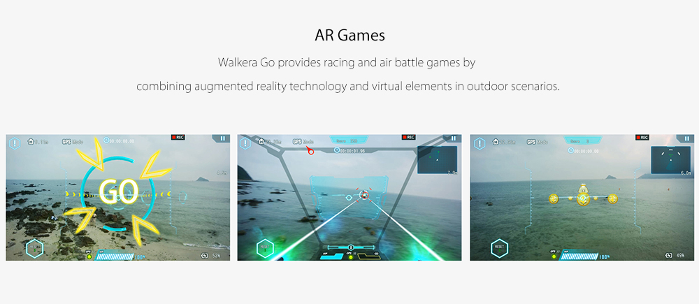 Walkera VITUS 320 Foldable RC Drone RTF 5.8G FPV 4K UHD Camera / Infrared Obstacle Avoidance / AR Games