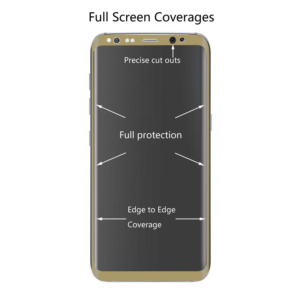 Hat Prince 3D Arc Full Cover Screen Protective Film for Samsung Galaxy S8 Plus Tempered Glass Explosion-proof Protector