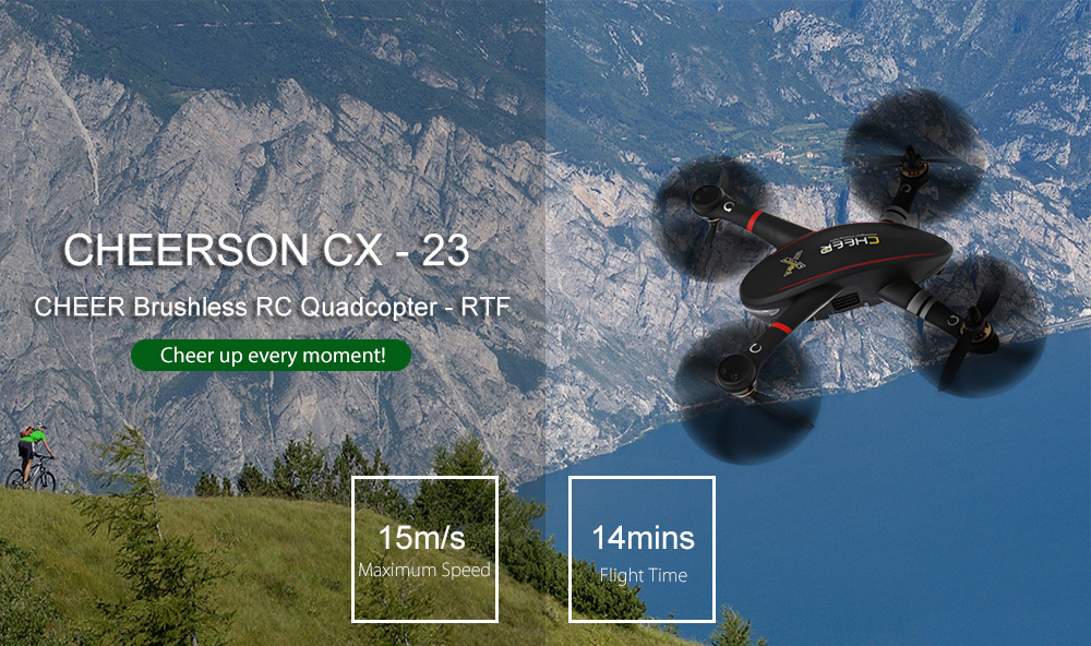CHEERSON CX - 23 CHEER Brushless RC Quadcopter RTF 5.8G FPV 2MP Camera / GPS Altitude Hold / OSD Dual-way Telemetry