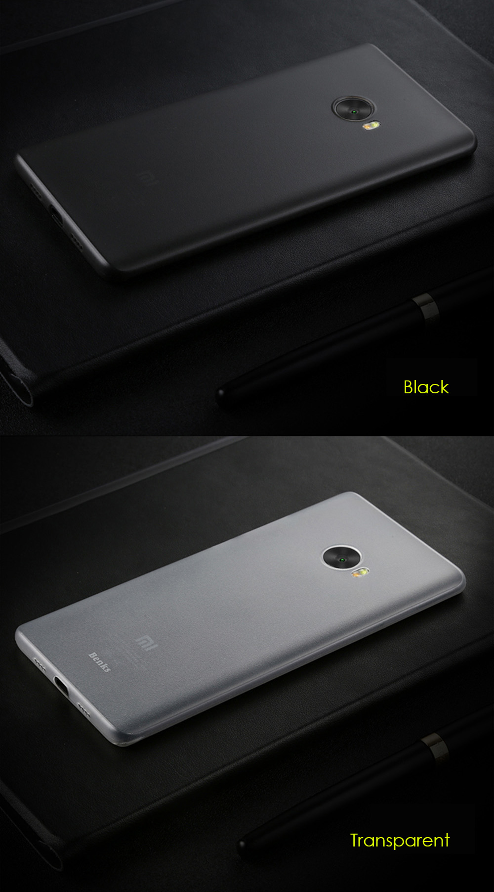 Benks PP Material Ultra-thin Phone Protective Case for Xiaomi Note 2 Anti-fingerprint Protector
