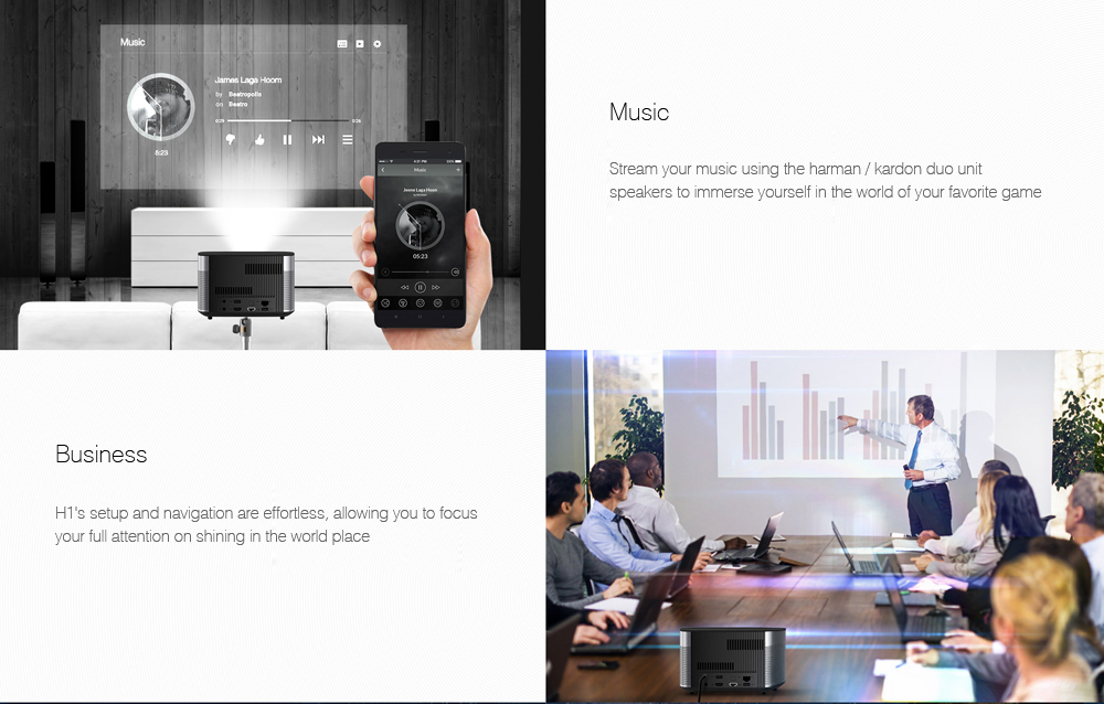 Original Xgimi H1 Dlp Projector Android 5 1 Home Theater