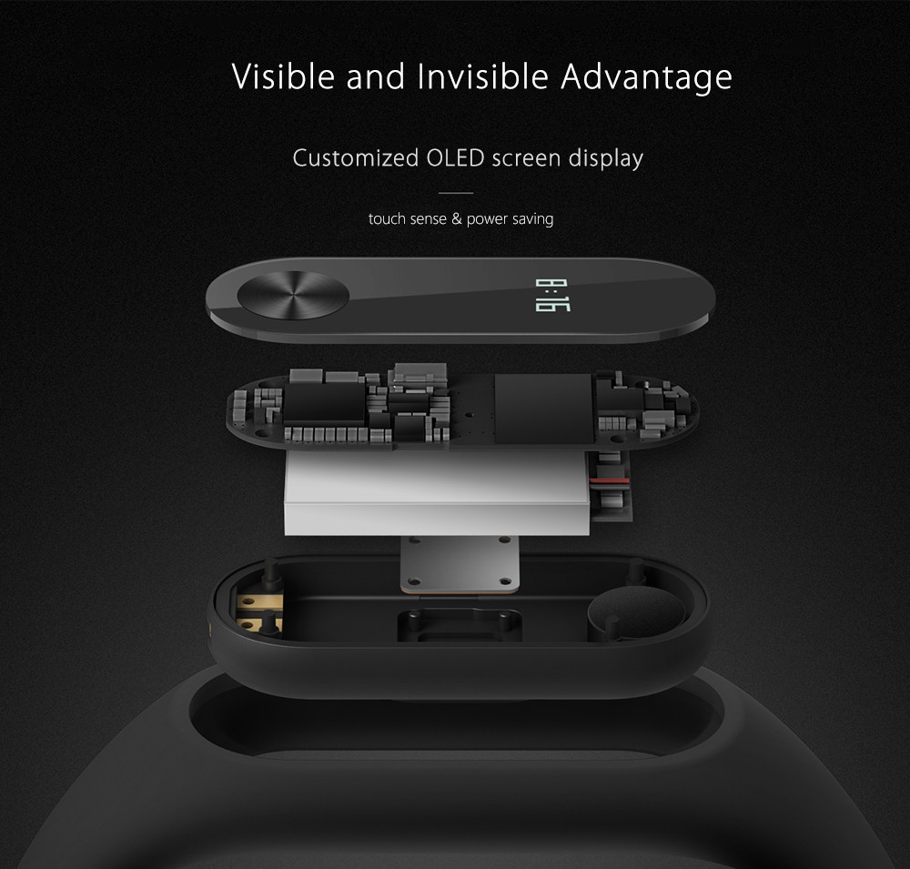 Original Xiaomi Mi Band 2 Smart Watch with Bluetooth 4.0