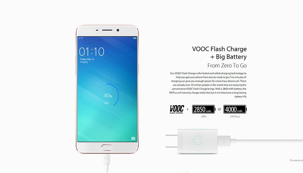 OPPO R9 Plus 4G Phablet Android 5.1 6.0 inch Snapdragon 652 Octa Core 1.8GHz 4GB RAM 64GB ROM 16.0MP + 16.0MP Cameras Fingerprint Touch Sensor