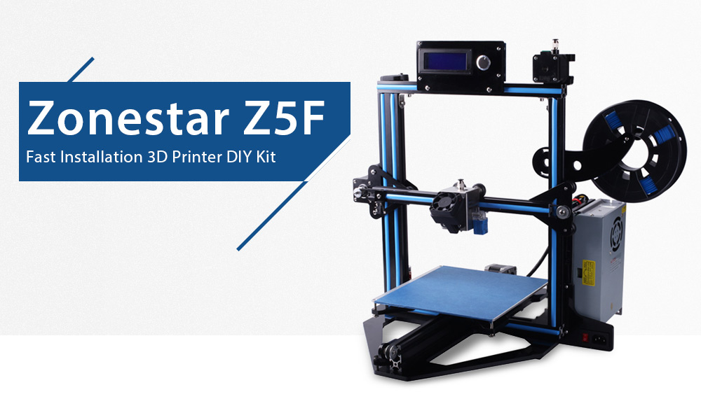 Zonestar Z5F 90 Percent Preassembled 3D Printer DIY Kit