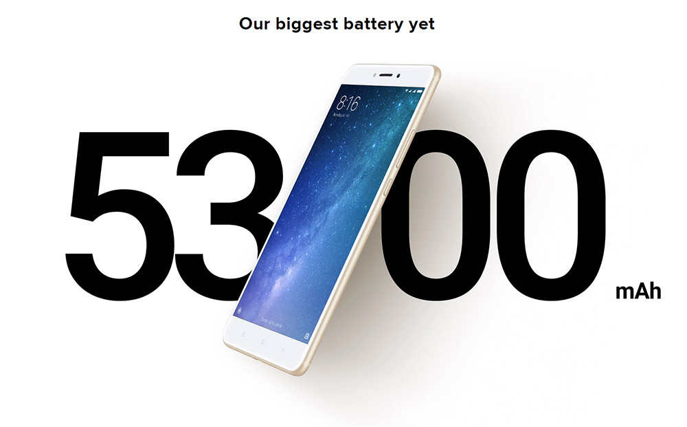 Xiaomi Mi Max 2 4G Phablet 6.44 inch Android 7.0 Snapdragon 625 Octa Core 2.0GHz 4GB RAM 128GB ROM 12.0MP Rear Camera Fingerprint Scanner WiFi Direct