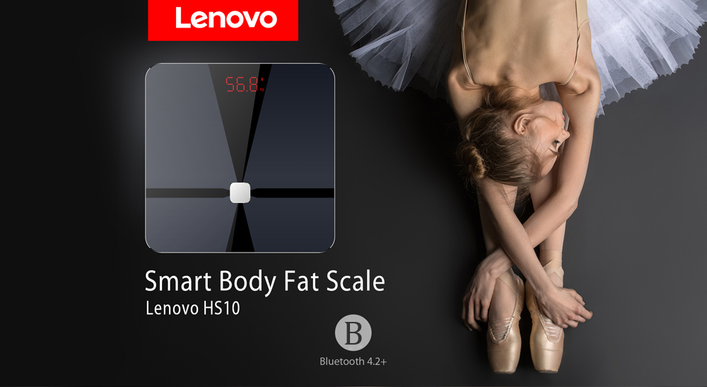 Lenovo HS10 Smart Body Fat Scale Intelligent Data Analysis APP Control Digital Weighing Tool