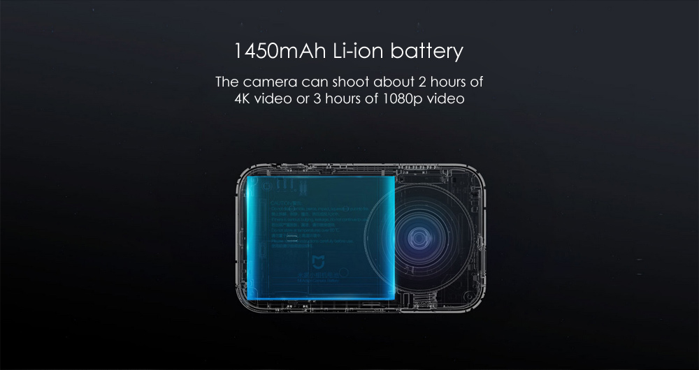 Xiaomi Mijia Camera Mini 4K 30fps Action Camera 145 Degree Wide Angle Six-axis EIS with 2.4 inch Touch Screen 7 Glass Lens