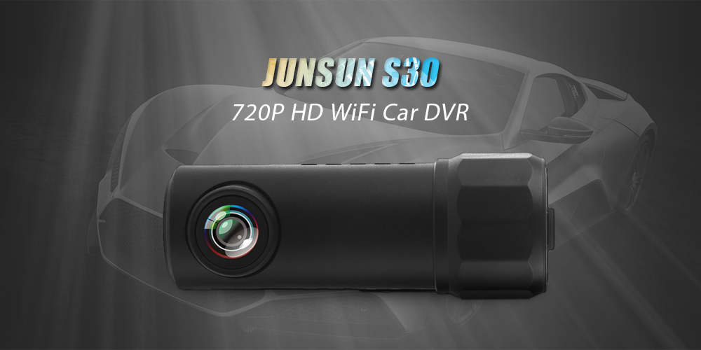 JUNSUN S30 720P HD WiFi Car Digital Video Recorder with 150 Degree Wide Angle