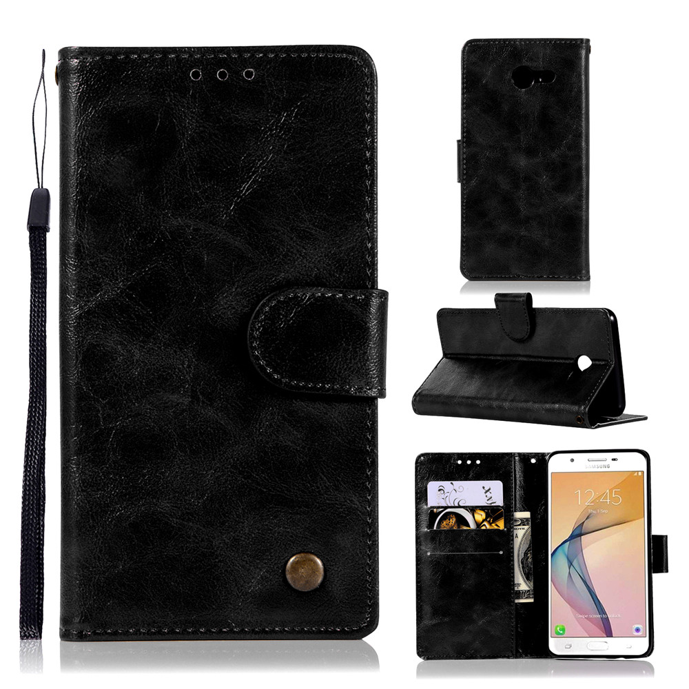 Fashion Flip Leather Case PU Wallet Cover Cases For Samsung Galaxy J7 2017 J720 US Version Phone Bag with Stand