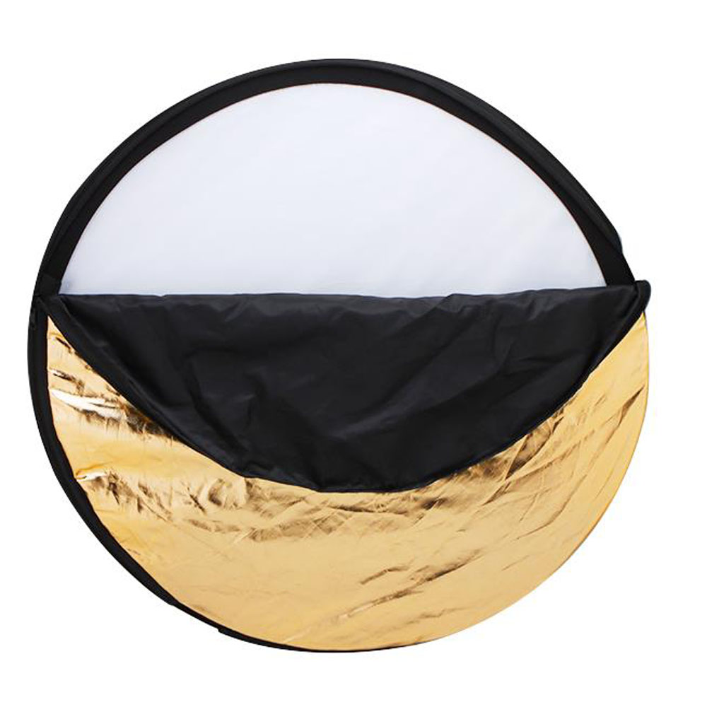 60cm/80cm/110cm 5 in 1 Collapsible Multi-Disc Light Reflector with Cariing Bag,Round Photography/Photo Reflector