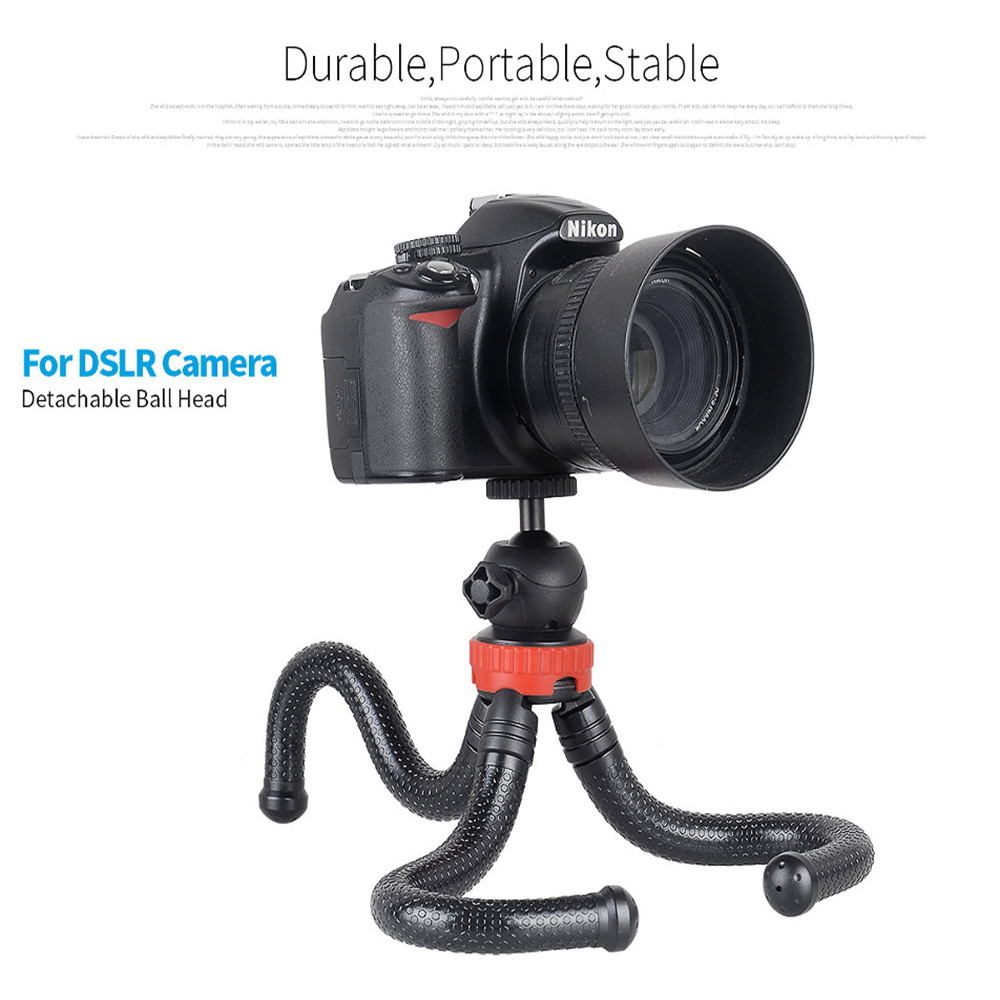 Travel Outdoor Live Broadcast Bracket Stand With Phone Clip Octopus Tripod for Digital Camera Smartphone