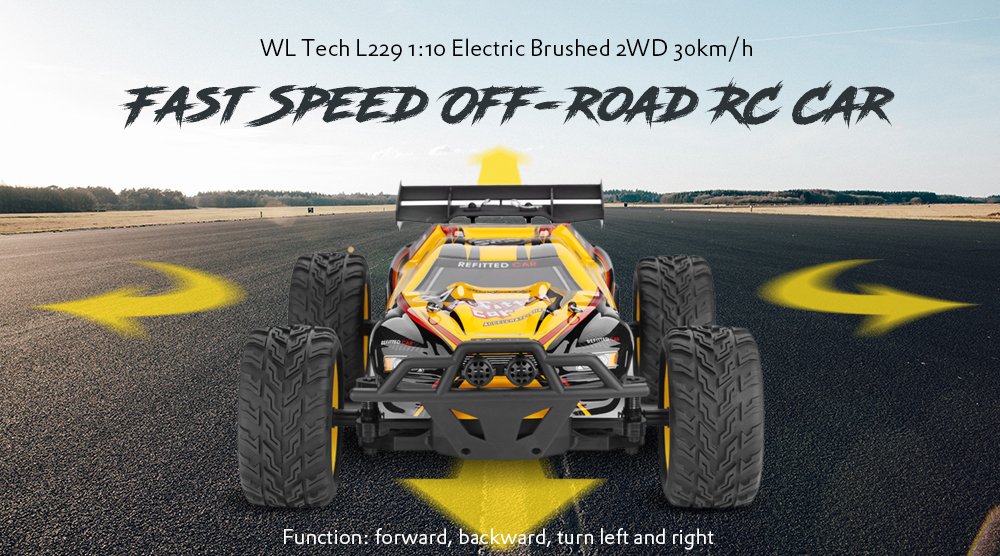 WLtoys L229 1:10 Electric Brushed 2WD 30km/h Fast Speed Off-road RC Car