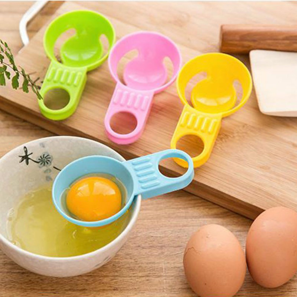 Egg Separator Egg White Yolk Filter Separator for Cooking Kitchen Gadget( 4 Colors,Pack of 4)