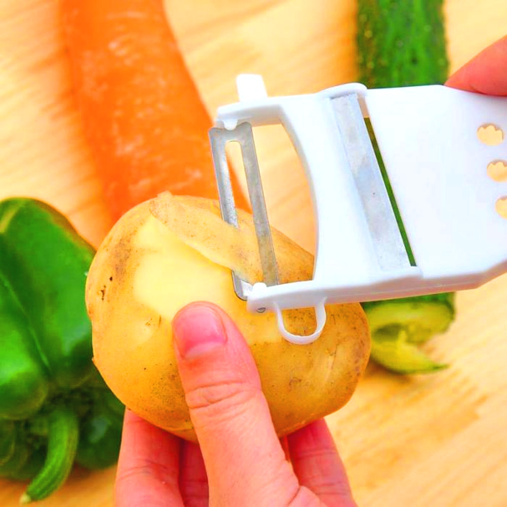 Multifunction Fruit Vegetable Device Loofah Kitchen Grater Cut Cucumber Carrot Potato Peeler Julienne Grater Cutter Slic