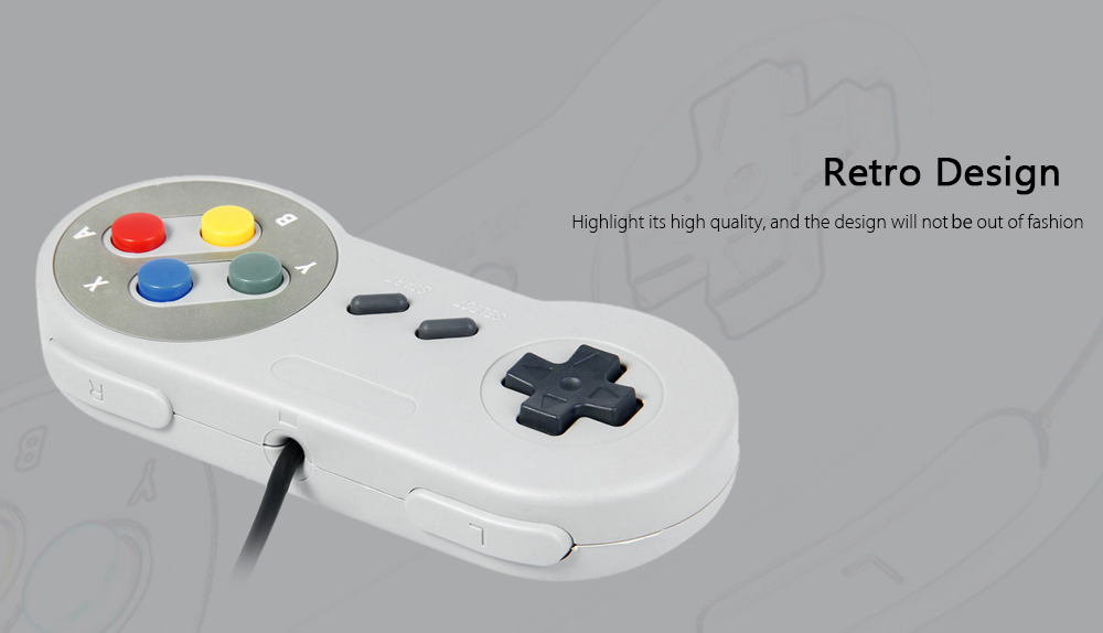 Classic USB Controller with A / B / X / Y Function Button for SNES