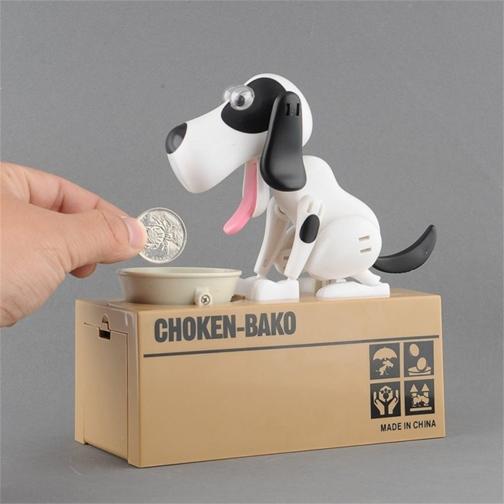 Children Birthday Gifts Eat Money Dog Piggy Bank Creative Toys