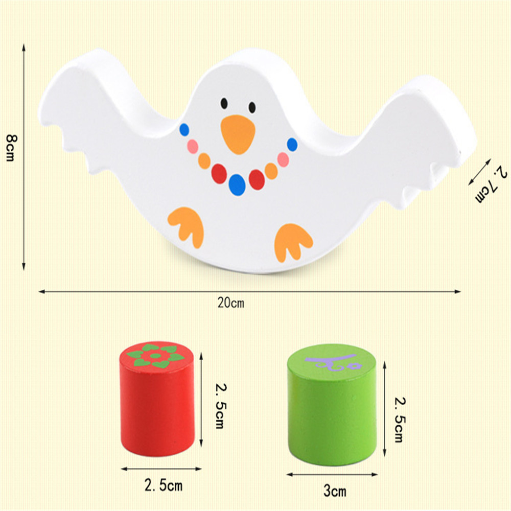 Wooden Multi Function Bird Balance Early Education Puzzle Toy