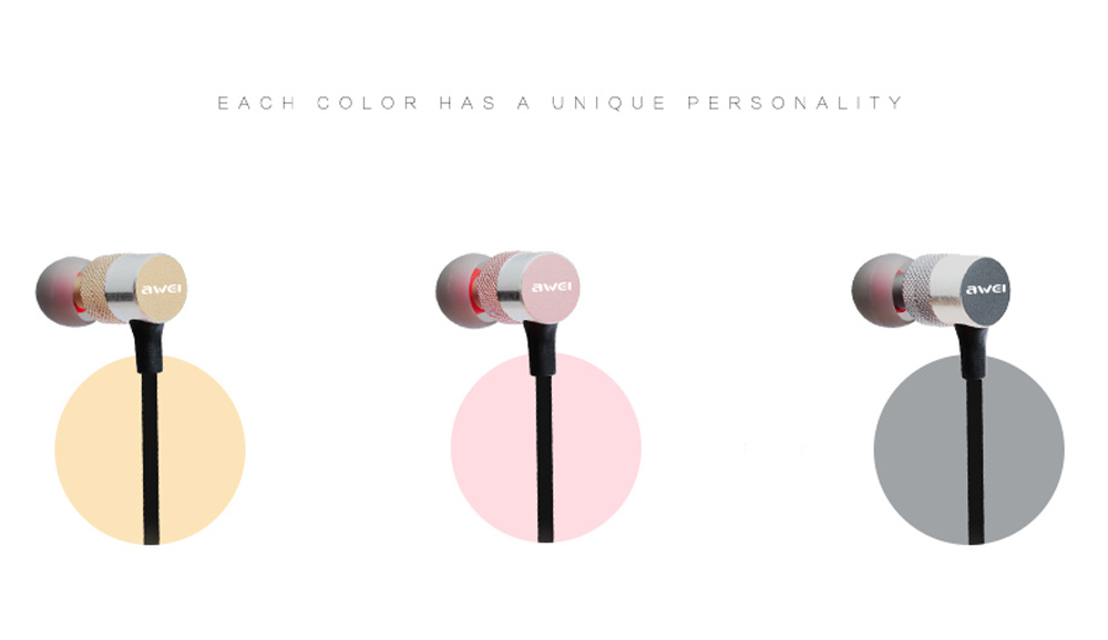 AWEI ES - 20TY 3.5MM Tapón Auriculares HiFi Musica Auriculares