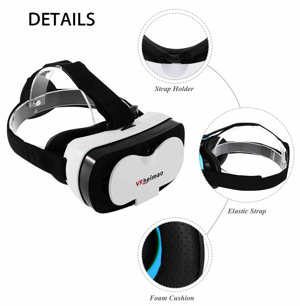 3D VR Headset Movie Game Wide Angle Virtual Reality